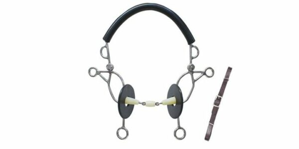 2826 - Happy Mouth Double Jointed Combination Hackamore Bit